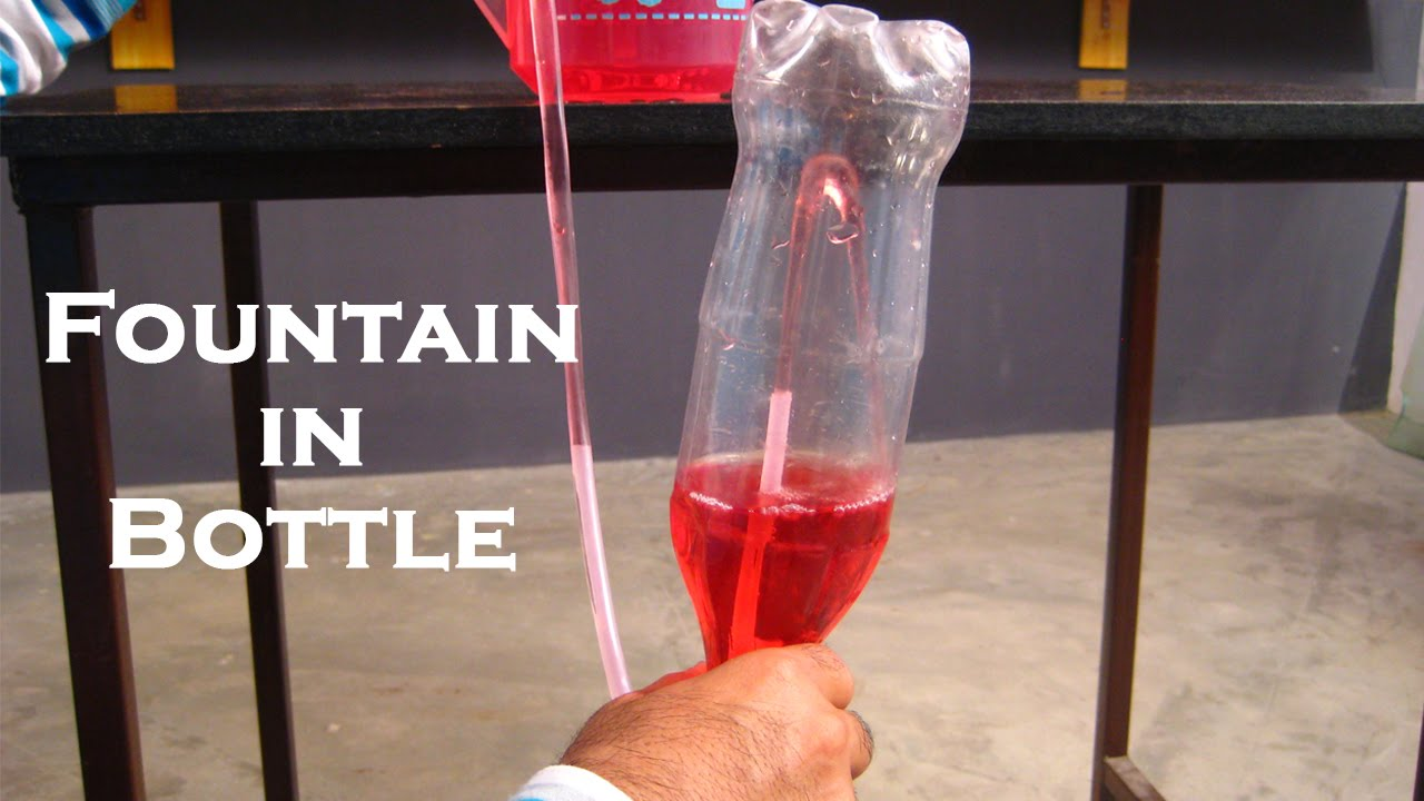 Fountain In Bottle Easy Science Project For Kids By
