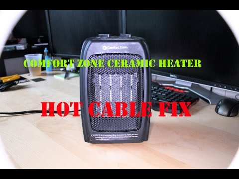 Comfort Zone Ceramic Heater CZ442WM - Repair (Hot Power Cable Problem)