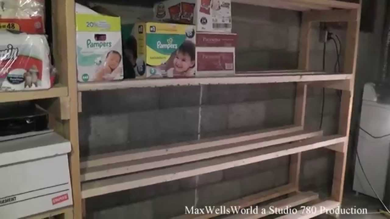 Basement Storage Shelf Build Maxwellsworld