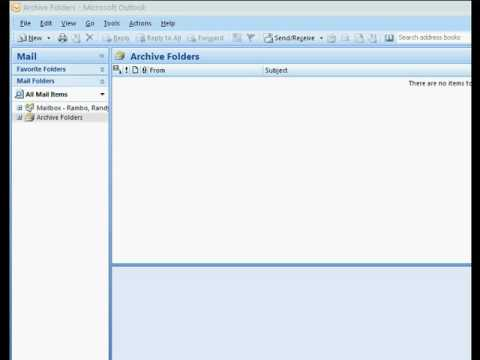 How to open a PST file in Outlook