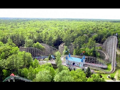 Dragon's Descent on-ride HD POV Funtown Splashtown U.S.A.