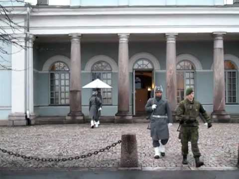 Helsinki, Change of Presidential Palace Guards, Finland November 2011