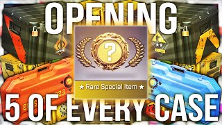 OPENING 5 OF EVERY CS:GO CASE EVER (‭165‬ CASE UNBOX)