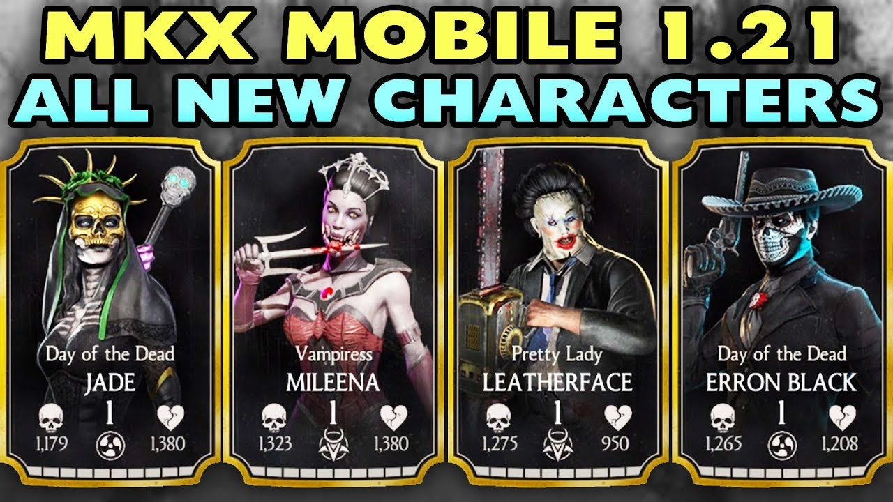 MKX Mobile Update 1 21  All 4 New Characters Gameplay + Review  I LOVE  THESE CHARACTERS!