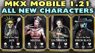MKX Mobile Update 1.21. All 4 New Characters Gameplay + Review. I LOVE THESE CHARACTERS!