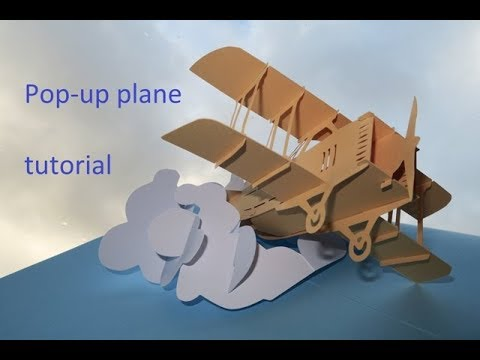 pop-up plane - sliceform - tutorial - dutchpapergirl