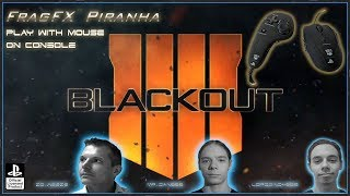 CALL OF DUTY BLACK OPS 4 BLACKOUT - FRAGFX PIRANHA PS4 GAMING MOUSE 🖱️ - Sony officially licensed