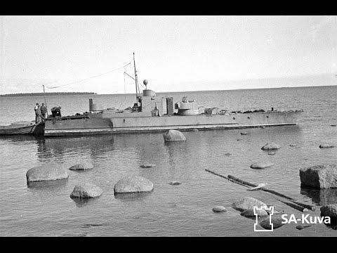 Финская военная флотилия. Захваченный советский бронекатер №215 (VTV-1) пр.1125. ВМФ