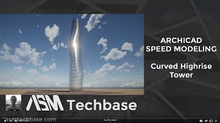 Curved High Rise Tower in Archicad