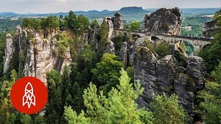 A View from Germanys Bastei Bridge