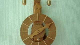 Black Forest  Wooden Clock With Verge & Foliot Escapement