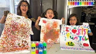 Painting T-Shirt Coloring Challenge! kids fun video