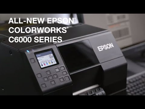 Epson ColorWorks C6000 Series Desktop Color Label Printers | Take A Tour
