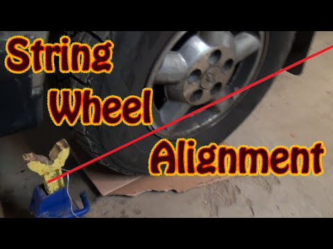 DIY Perform A Vehicle Front End Alignment Using String and a Ruler - Front End Replacement Part 3
