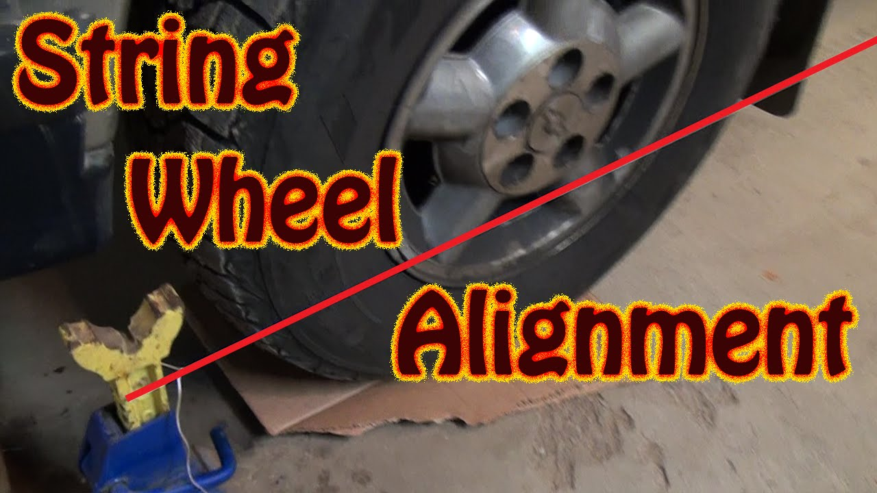 Diy Perform A Vehicle Front End Alignment Using String And A Ruler