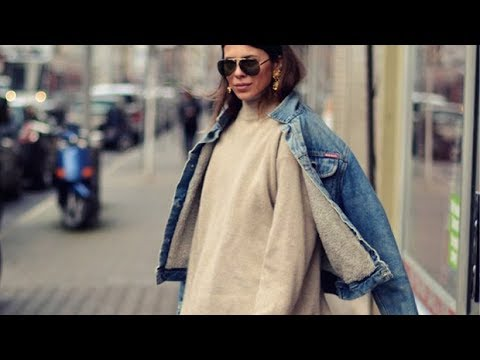 1685fe8e3aa9 Denim jackets street style for winter - YouTube