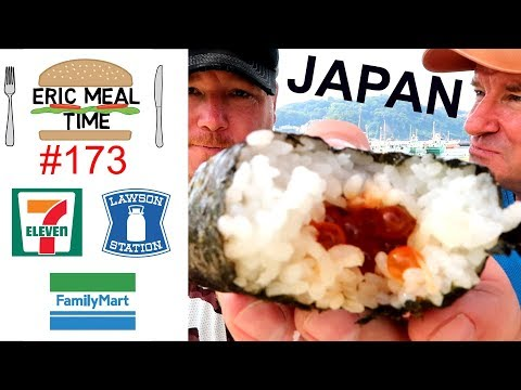 Japan Convenience Stores FOOD TOUR - Eric Meal Time #173