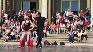 Bollywood salsa performance | world dance day | Jose Varghese y Janine | Leipzig Germany.