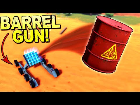 I Built an Electromagnetic Barrel Launcher and It's Stupidly Strong - Trailmakers Gameplay