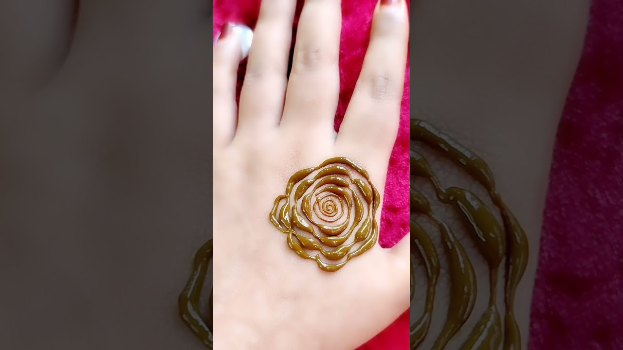 very beautiful and trendy rose flower henna design || rose henna || how to draw henna rose #shorts