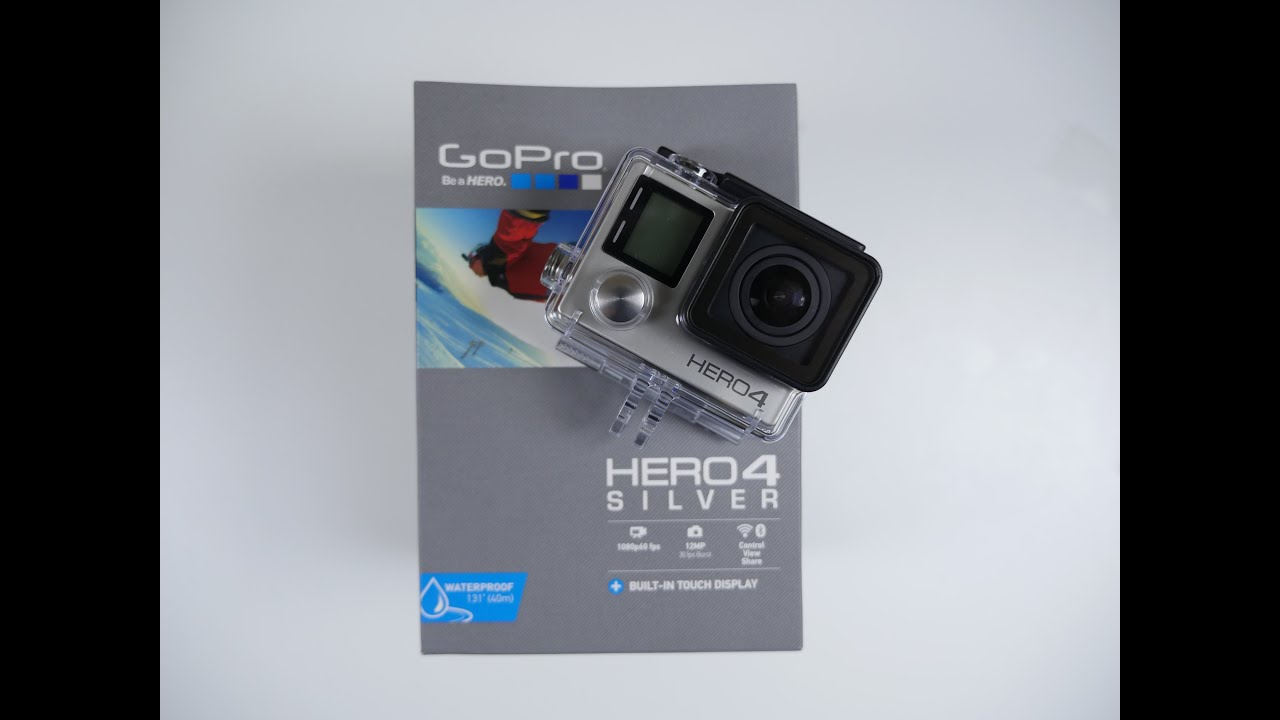 GoPro HERO 4 SILVER Edition UNBOXING and Setup - YouTube