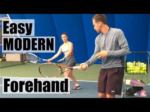 """Teaching a """"Modern"""" Style Forehand to Adult"""