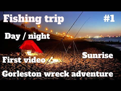 Sea Fishing UK Gorleston Beach Wreck Day Night Sunset  My First Video  Waterside Fishing Adventures