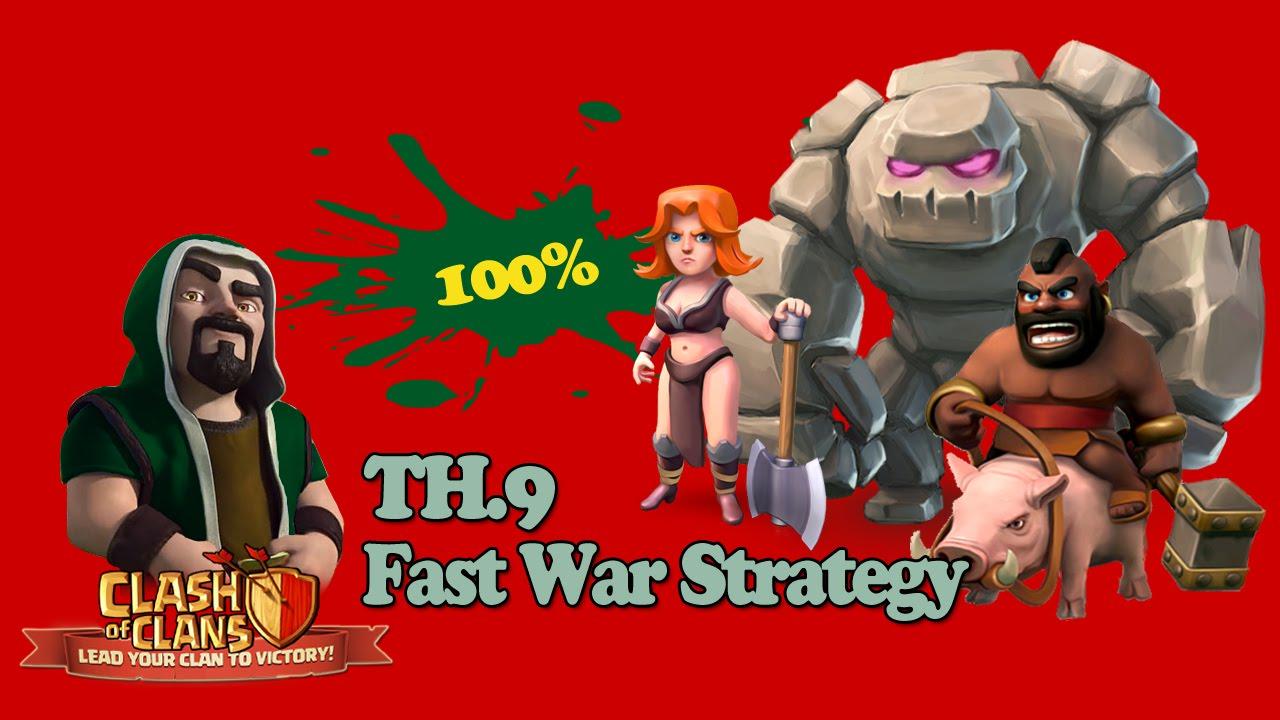 Download Clash Of Clans TH9 War Strategy GO.WI.HO + Valkryie 100% Work