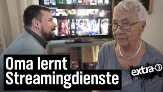 Oma lernt Streamingdienste