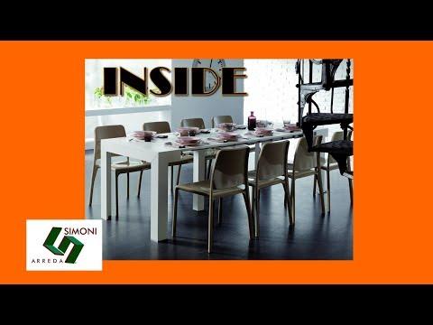 Tavolo consolle inside con prolunghe incorporate youtube for Simoni arreda milano