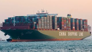 CSCL Globe: Größtes Containerschiff der Welt in Hamburg