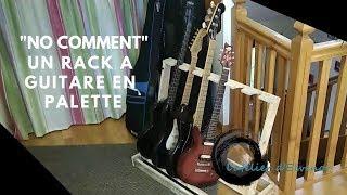 un rack a guitare en palette
