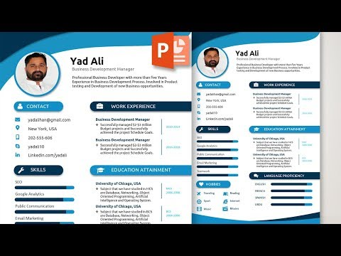 How To Write And Design An Awesome Elegant Resume Template In Ms Powerpoint Free Download