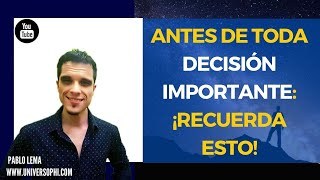 ¡TODAS TUS DECISIONES SE BASAN EN ESTO!👂 ANTES de tomar DECISIONES: 👉 MIRA ESTE VIDEO