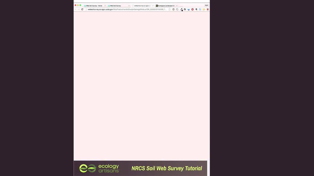 How to Use the NRCS Web Soil Survey