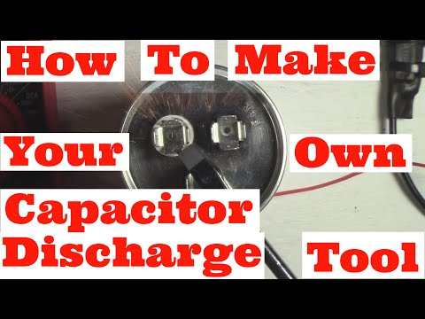 How To Make Your Own Capacitor Discharge Tool DIY (HVAC/Stereo/Microwave) Service