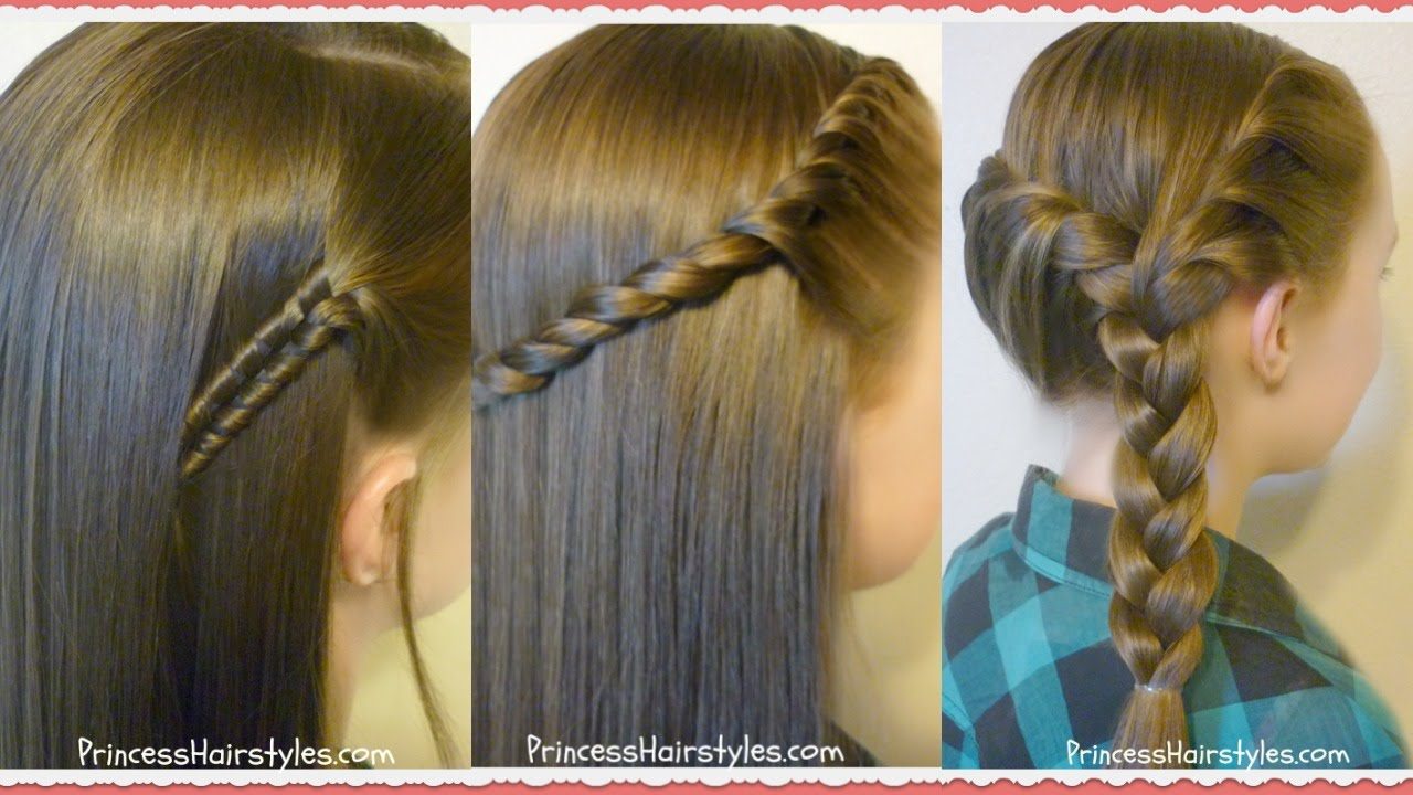 Cute Easy Hair Styles For Long Hair: 3 Easy Back To School Hairstyles