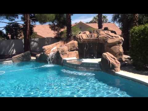 Pool and grotto in las vegas home for sale for Home for sale in las vegas with pool