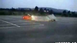 Ricer Crashes into Another in Parking Lot