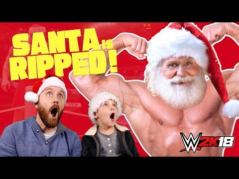 Santa Claus is Ripped! Christmas Special WWE Family Game!
