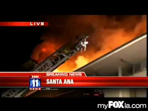 Fire Burns Saddleback Inn in Santa Ana