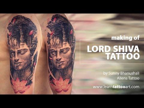 Making of Lord Shiva Tattoo - Time Lapse - Advance Tattoo Tutorial