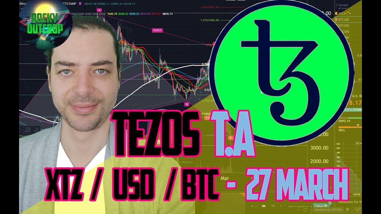 Tezos (XTZ) - Quick Tezos T.A  XTZ/USD XTZ/BTC -  March 27 Technical Analysis & Prediction 12