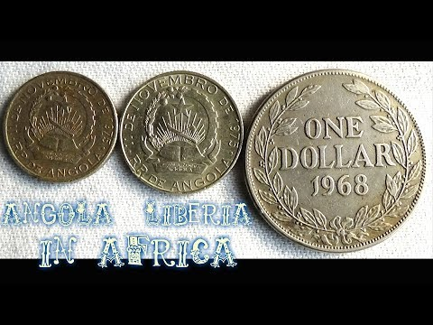 Coin collection | Africa (Angola & Liberia) | 3 Coins ( Kwanza & Dollar ) from 1968