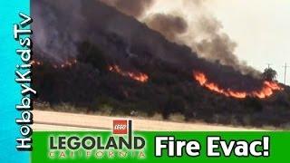 Our Legoland FIRE Evacuation! Carlsbad, California News Update: May 2014 HobbyKidsVids