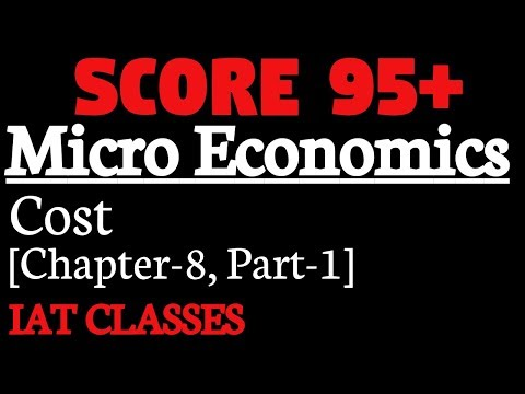 Micro Economics 11th and 12th : Cost(लागत),Part-1,Chapter-8