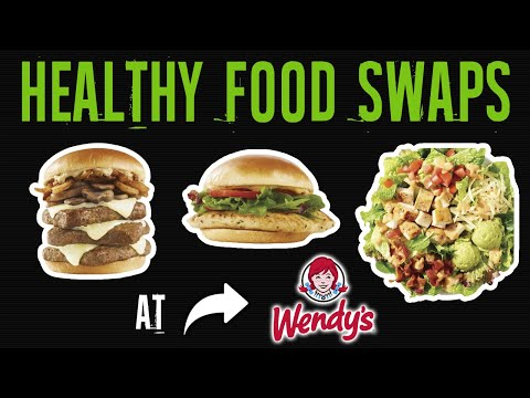 Healthiest Foods At Wendy's And The Worst (HEALTHY FOOD SWAPS AT WENDY'S) | LiveLeanTV