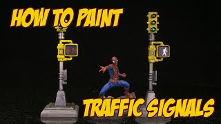 How to paint and detail Marvel Crisis Protocol Traffic Lights