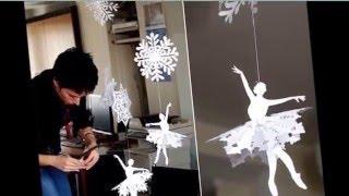 Новогодние снежинки -  балеринки из бумаги