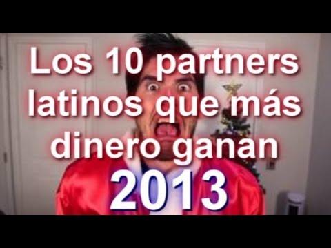 Los 10 partners latinos que más dinero ganan con Youtube en 2013 #SEOArticulo